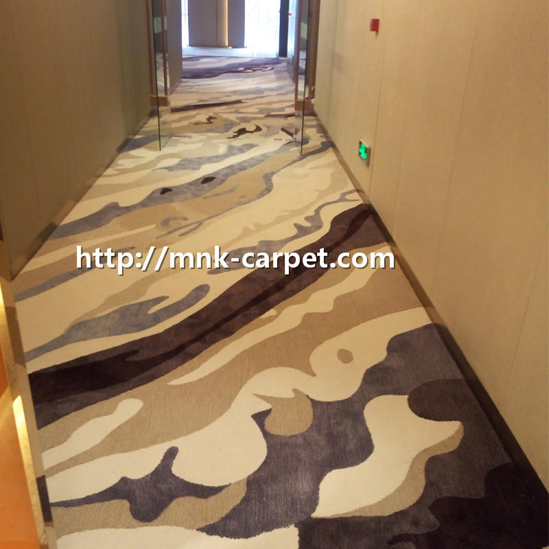 MNK Wall To Wall Nylon Carpet For Hotel Corridor Decoration