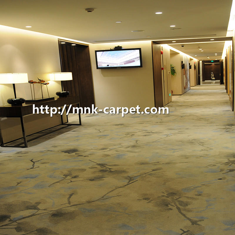 MNK Printed Nylon Carpet Wall To Wall Hotel Room Carpet