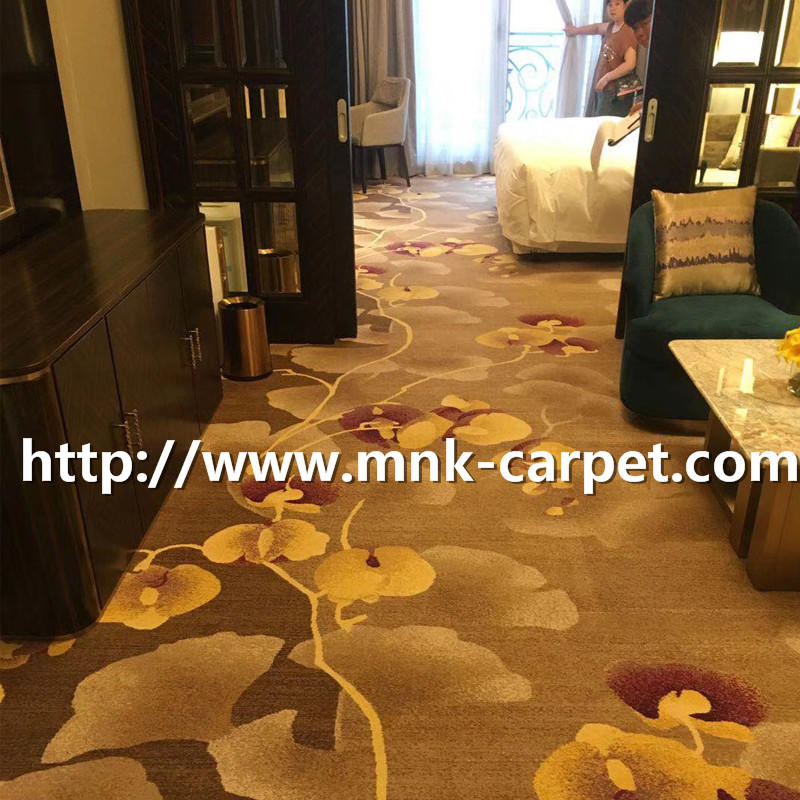 MNK Bedroom Carpet Luxury Pattern Wall To Wall Axminster Carpet