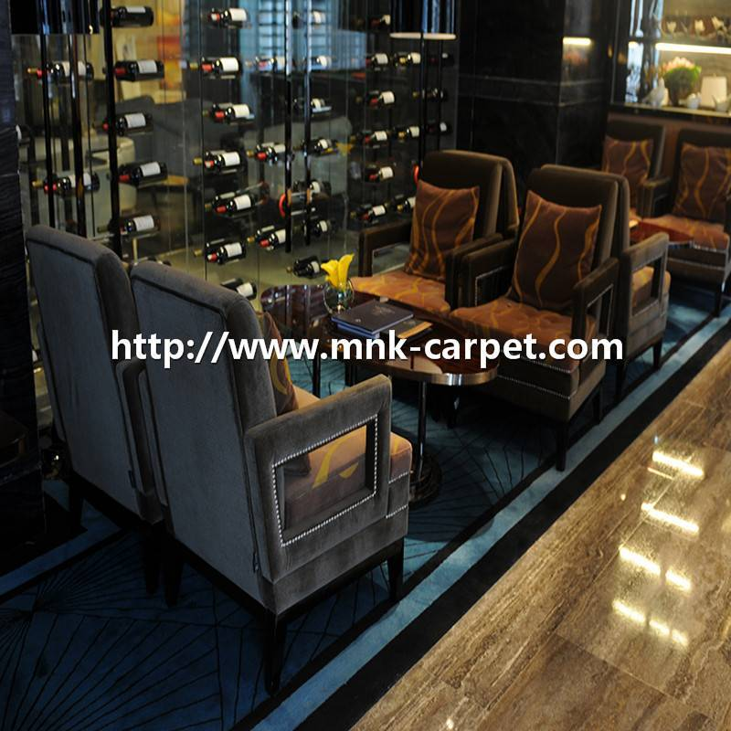 MNK Hand-tufted Carpets Blue Style Restaurant Carpets