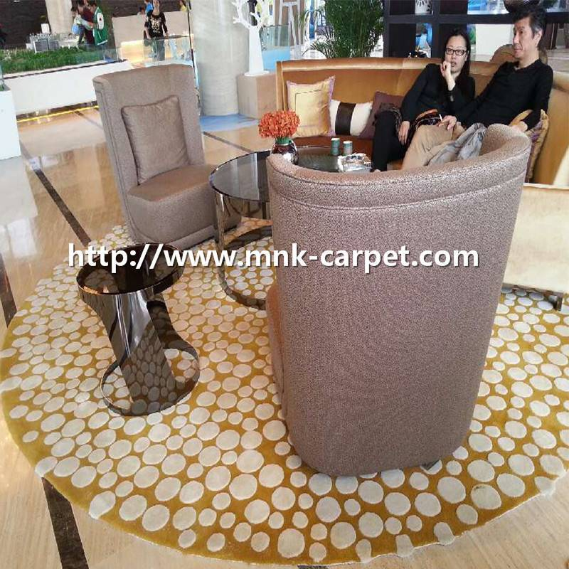 MNK Round Pattern Carpet Lounge Room Rug