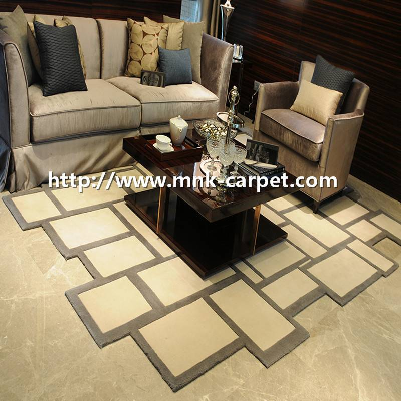 MNK Modern Design Handtufted Wool Carpet  Living Room Carpet