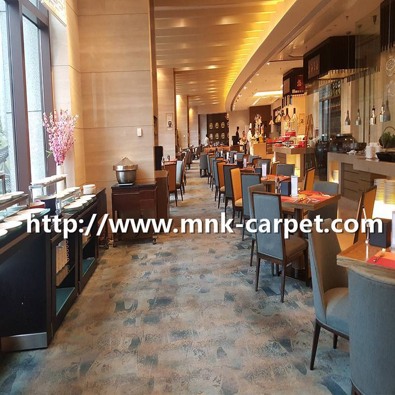 MNK Fashion Design and Quality Axminster Carpet For Restaurant