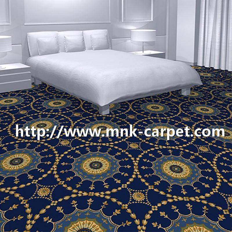 MNK Wall to Wall Axminster Carpet Hotel Bedroom Carpet