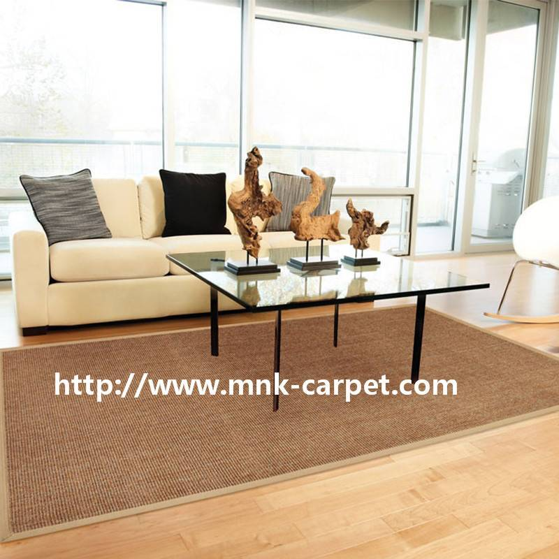 MNK Sisal Carpet 100% Sisal Fiber Rug For Living Room Decoration