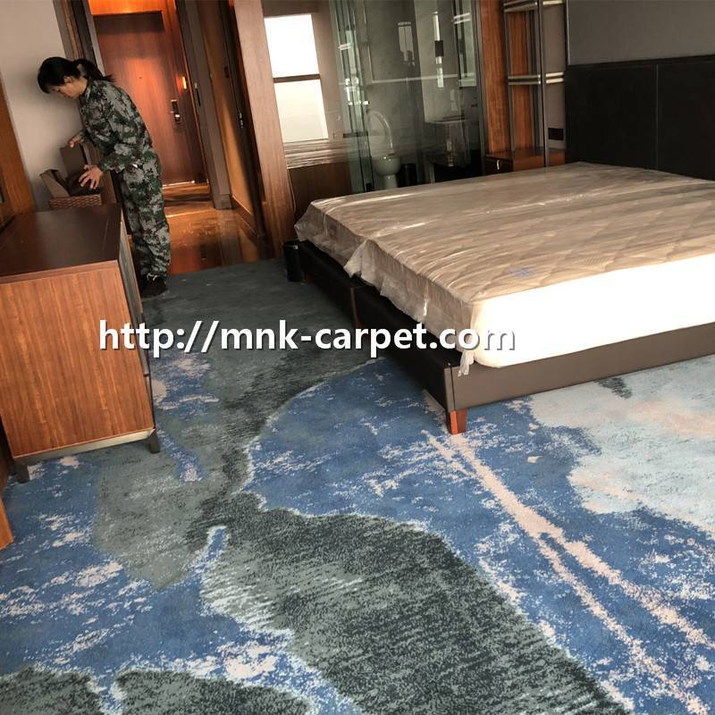 MNK Nylon Carpet Custom Design Bedroom Carpet Wall To Wall