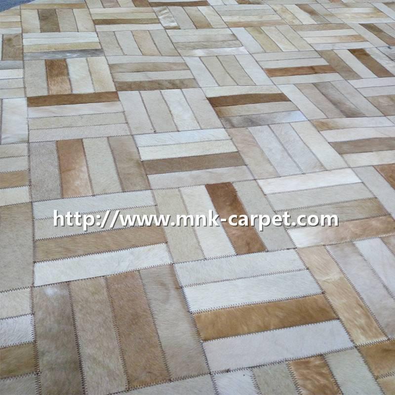 MNK Leather Carpet Custom Design Area Rug