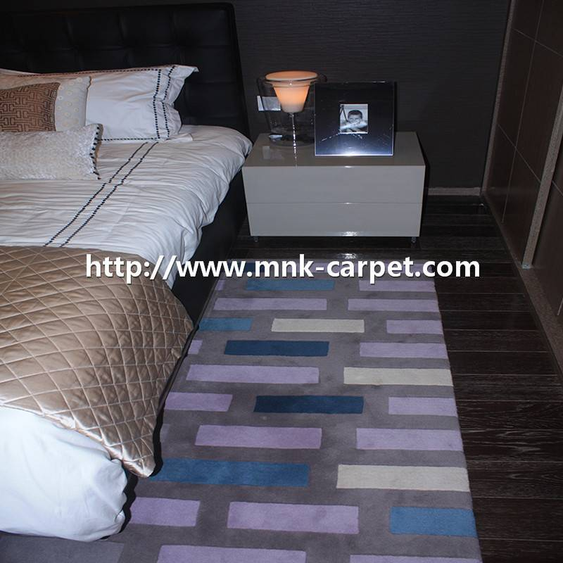 MNK Handmade Carpet Custom Pattern Hotel Bedroom Rug
